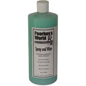 Очиститель Poorboy's World Spray and Wipe - Waterless Wash/Clay Lubricant (32oz/964ml)