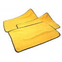 Салфетка микрофибровая Chemical Guys SUPER TOWEL Silk banded Heavy weight towel yellow with black edges 16''x16''