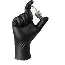 Износостойкие нитриловые перчатки JetaPro JSN NATRIX S черные, 50 шт