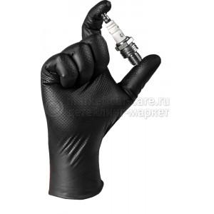 Износостойкие нитриловые перчатки JetaPro JSN NATRIX M черные, 50 шт
