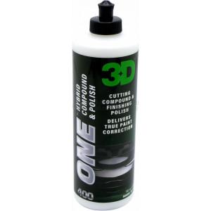 Абразивная и полировальная паста 3D ONE  2 в 1, 0,94л