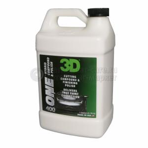 Абразивная и полировальная паста 3D ONE  2 в 1, 3,78л