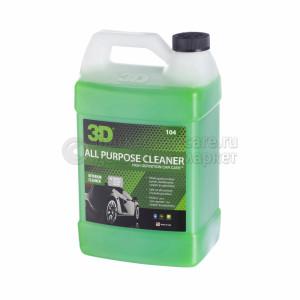 Универсальный очиститель для салона и кузова 3D ALL PURPOSE CLEANER, 3,78л