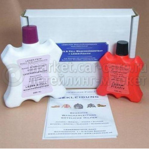 Набор для стирки кожаных изделий Lederzentrum LEDER FEIN Lederwaschmittel+LEDER FEIN Leder-Fixativ