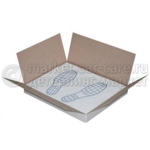 """Бумажные коврики """"следы ног"""" с ламинацией, 500шт"""
