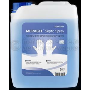 Санитайзер дезинфектор антисептик для рук и поверхностей Meratech Meragel Septospray, 5л