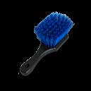 Универсальная щетка средней мягкости с короткой ручкой, синий ворс.
