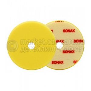 SONAX Polishing Sponge yellow FinishPad полировочный круг 143 мм желтый, мягкий.