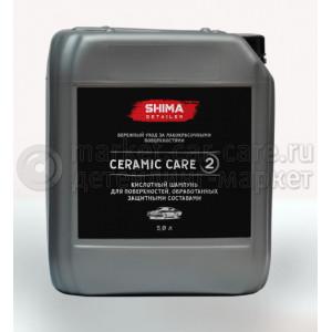 SHIMA DETAILER CERAMIC CARE Шампунь для бережного ухода за лакокрасочными покрытиями, 5л.