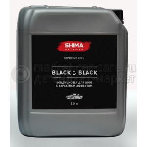"""Кондиционер для шин с бархатным эффектом SHIMA DETAILER """"BLACK & BLACK"""", 5л."""