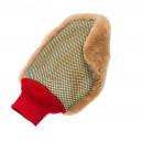 FlexiPads - Рукавица (варежка) двухсторонняя с натуральным мехом и скрабом для мойки авто