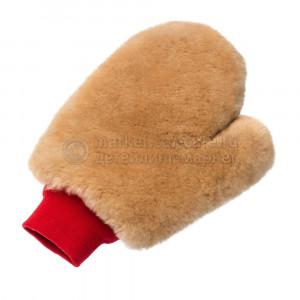 FlexiPads - Рукавица (варежка) с большим пальцем меховая ультрамягкая из натуральной овчины для мойки авто