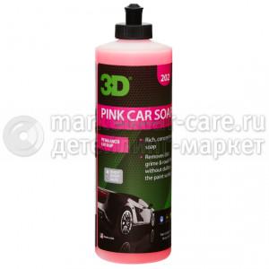 Ручной шампунь 2в1 3D Pink Car Soap 0,41л