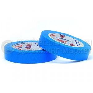 Маскирующая лента (малярный скотч) Eurocel 80°С-30 мин синяя, 19 мм