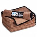 Dry Monster Коричневая микрофибра для сушки с оверлоком 50x60см 560гр/м