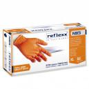 Сверхпрочные резиновые перчатки, нитриловые, оранж, Reflexx N85-L. 8,4 гр. Толщина 0,2 мм.
