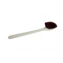 Щетка с длинной ручкой для мойки и чистки экстерьера, жесткая коричневая щетина Hi-Tech