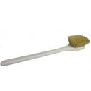 Щетка с длинной ручкой для мойки и чистки экстерьера, желтая щетина Hi-Tech