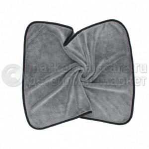 """Микрофибровое полотенце для сушки авто """"Волчонок"""", 50*60 см, серое, 560 гр/м2"""
