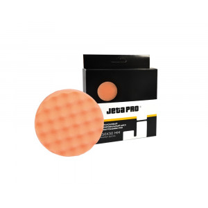 Полировальный диск JetaPro желтый/оранжевый (рифленый) средней жесткости, 150x25мм