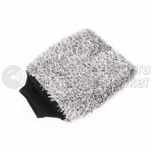 Проф. руковица для мойки PURESTAR Double twist wash mitt (21x28cm), Серая