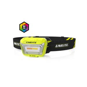 Налобный сенсорный фонарь UNILITE 3 цвета, CRI 96+, 200 Lm, 1500 mAh, IPX5